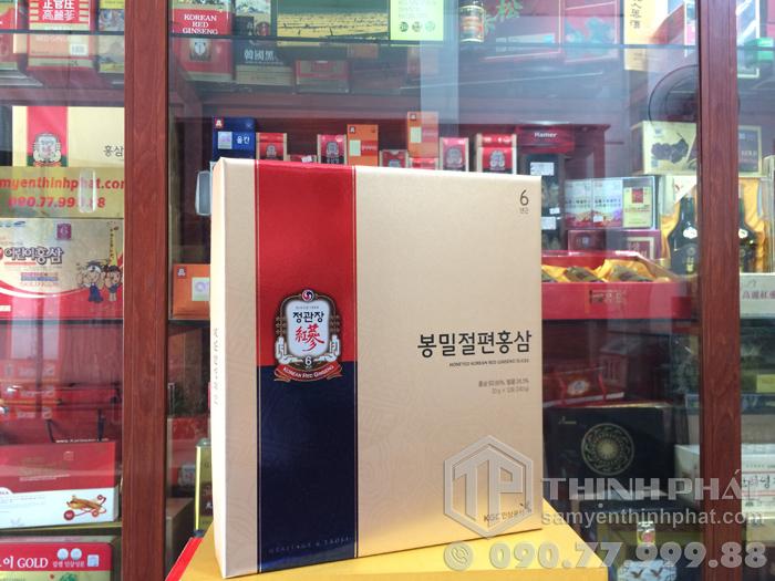 Sâm lát tẩm mật ong KGC cao cấp hộp 12 gói - Hồng sâm chính phủ Cheong Kwan Jang
