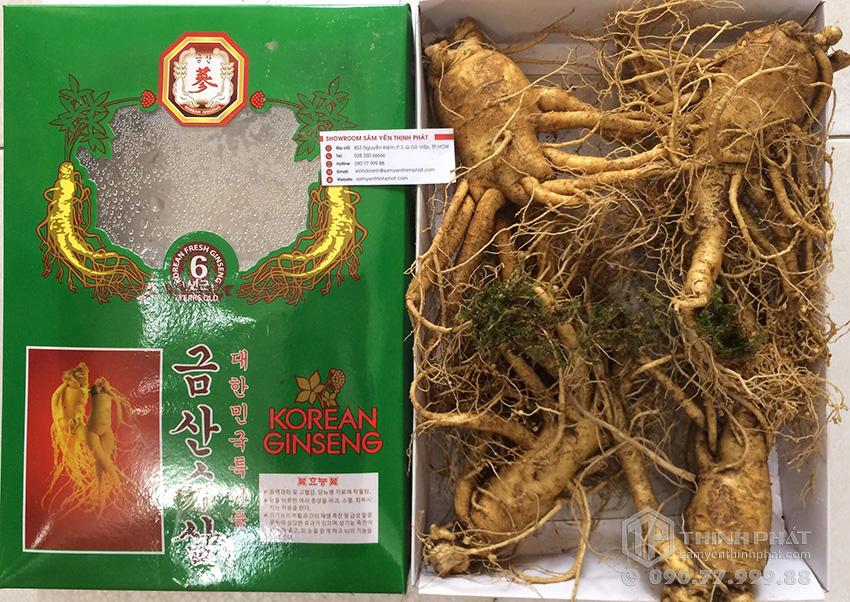Nhân sâm tươi Hàn Quốc loại 4 củ 1 kg