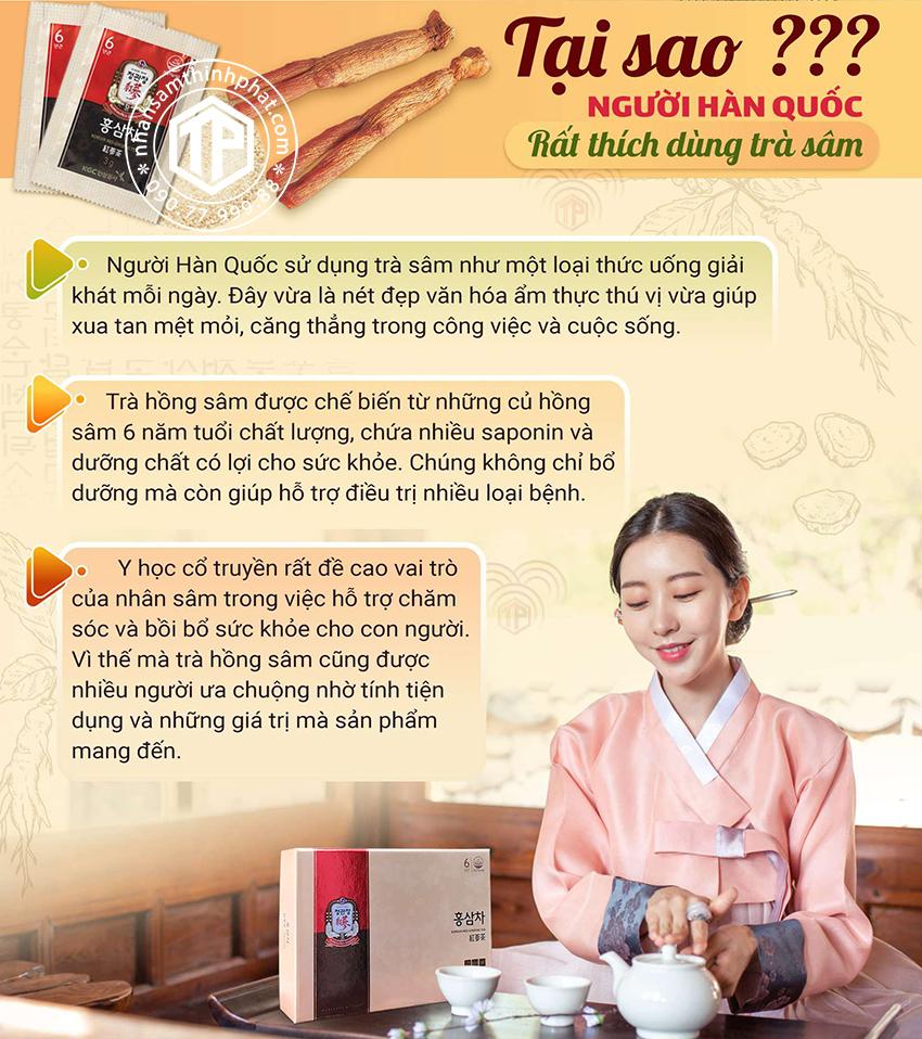Tại sao người Hàn Quốc rất thích dùng trà sâm
