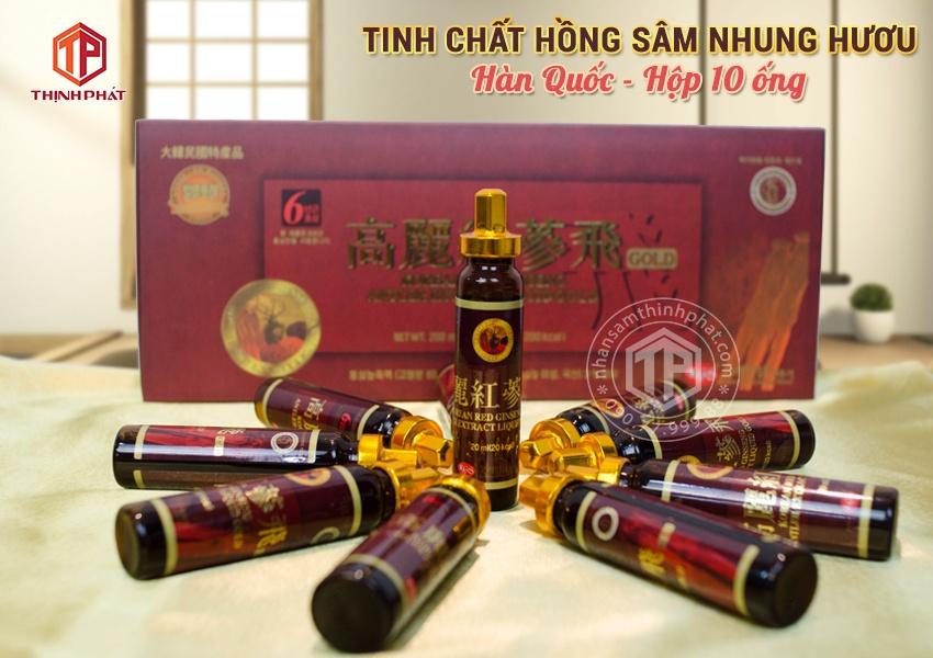 Tinh chất hồng sâm nhung hươu hộp 10 ống Chính hãng Hàn Quốc