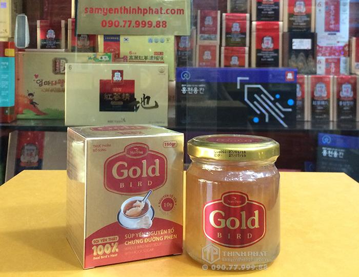 Tổ yến chưng đường phèn 100% tổ yến 190ml/ lọ - Gold Bird