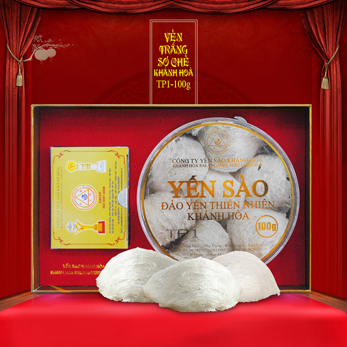 Tổ Yến Sào Khánh Hòa đảo nguyên chất hộp 100g - TP1 loại đặc biệt