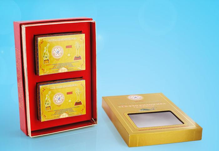 Tổ Yến Sào Khánh Hòa tinh chế hộp quà tặng 2 hộp 3g