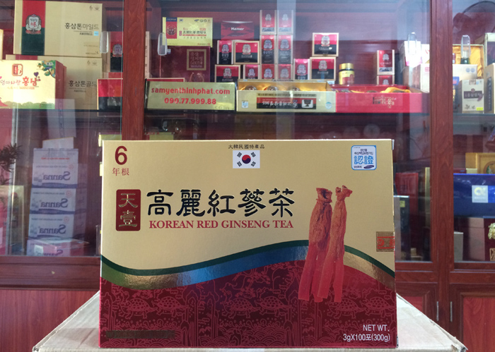 Trà hồng sâm Dongwon cao cấp 100 gói