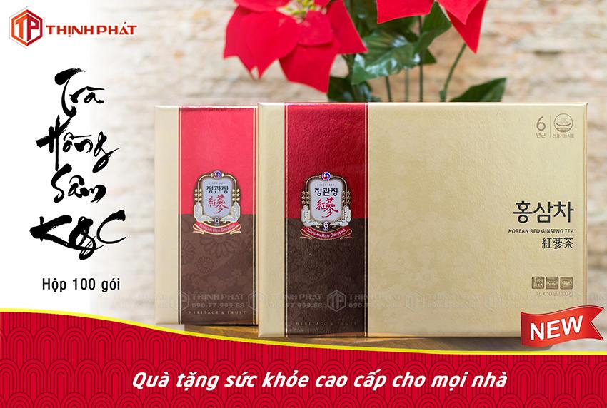 Trà hồng sâm KGC hộp 100 gói sâm Chính phủ Hàn Quốc Cheong Kwan Jang