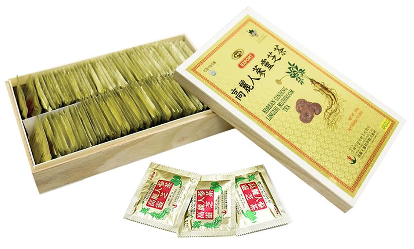 Trà nhân sâm linh chi Hàn Quốc 100 gói