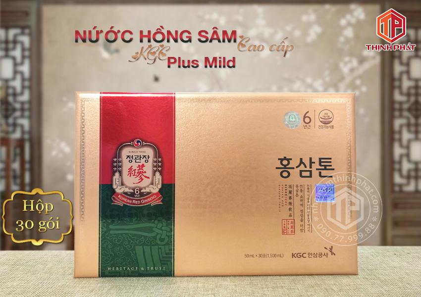 Nước hồng sâm cao cấp KGC Plus Mild hộp 30 gói