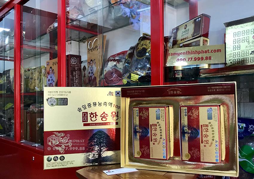 Viên tinh dầu thông đỏ Dami Hansongwong cao cấp 120 viên