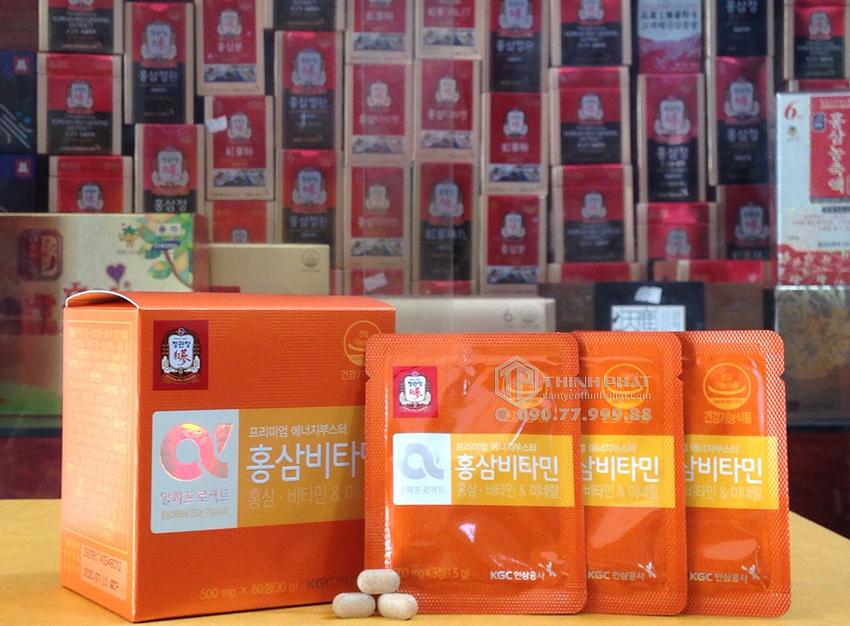 Viên cao hồng sâm Hàn Quốc cao cấp KGC Cheong Kwan Jang vitamin e hộp 120 viên