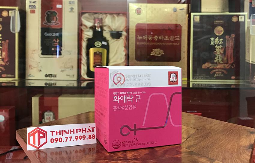 Viên hồng sâm KGC cho phụ nữ tuổi trung niên Hwa Ae Rak (Women Balance Q) - hộp nhỏ 40 viên