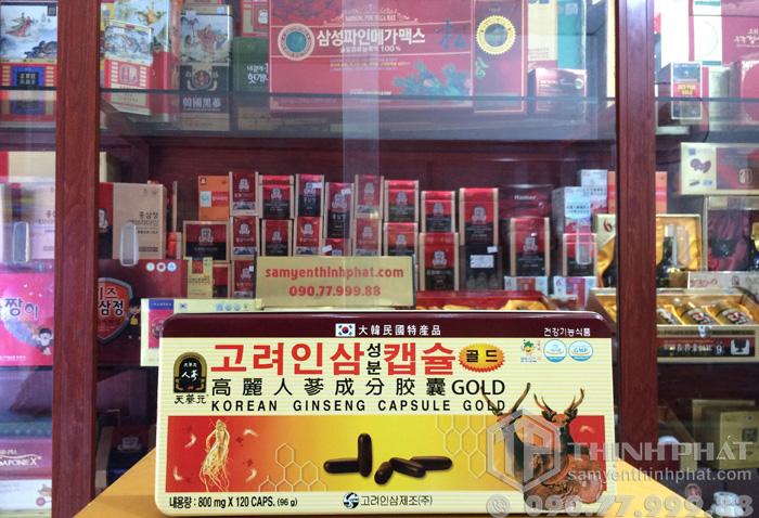Viên linh chi sâm nhung Hàn Quốc 120v