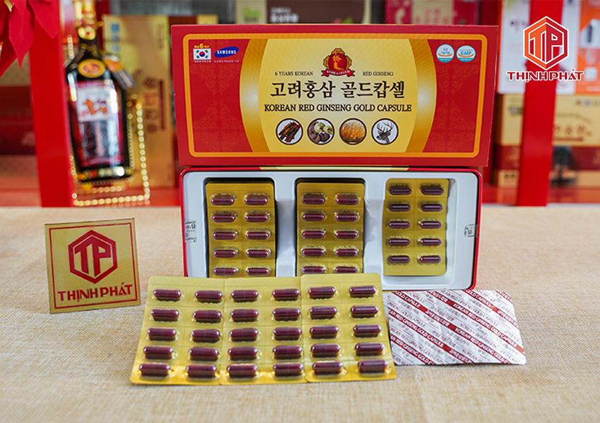 Viên đạm hồng sâm nhung hươu linh chi đông trùng hạ thảo insam Hàn Quốc 120 viên