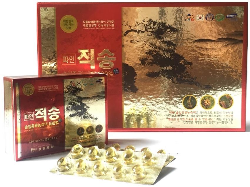 Viên tinh dầu thông đỏ Hàn Quốc Pine Jeok Song Gold 120 viên