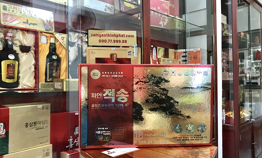 Viên tinh dầu thông đỏ Chính Phủ Hàn Quốc cao cấp Pine Jeok Song Gold 120 viên