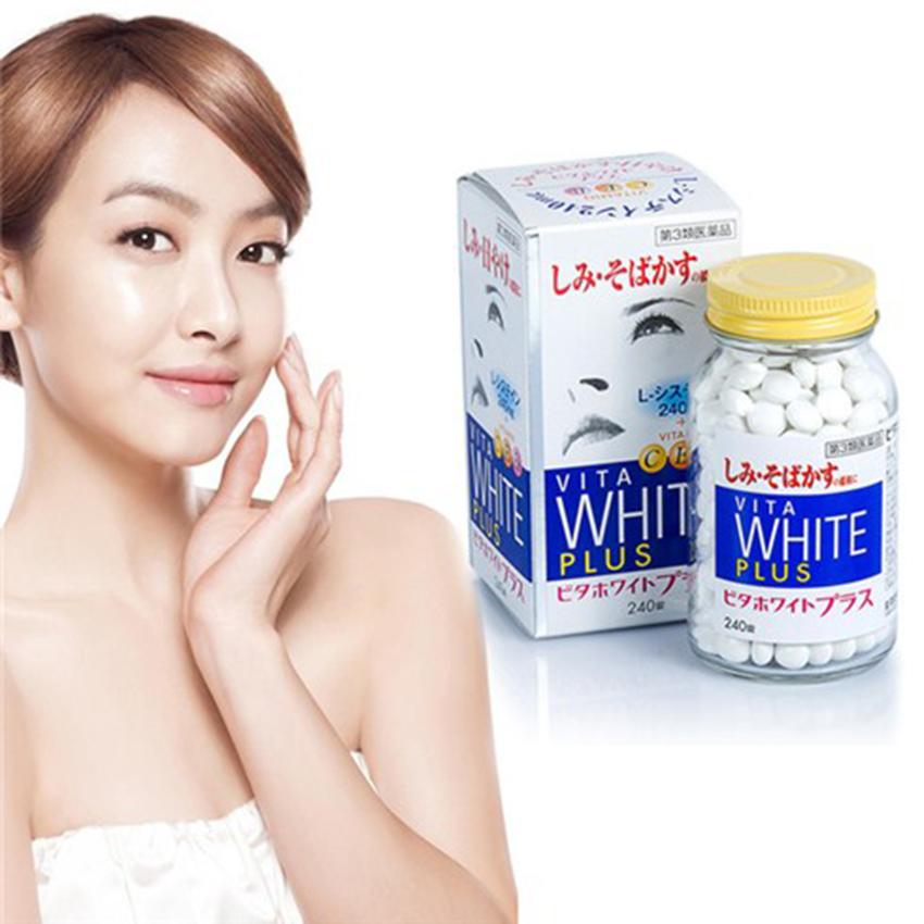 Viên trị nám - trị tàn nhang - trắng da Nhật Bản Vita White Plus vitamin C, E, B2
