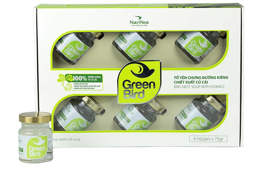 Yến green bird hộp 6 lọ x 75g
