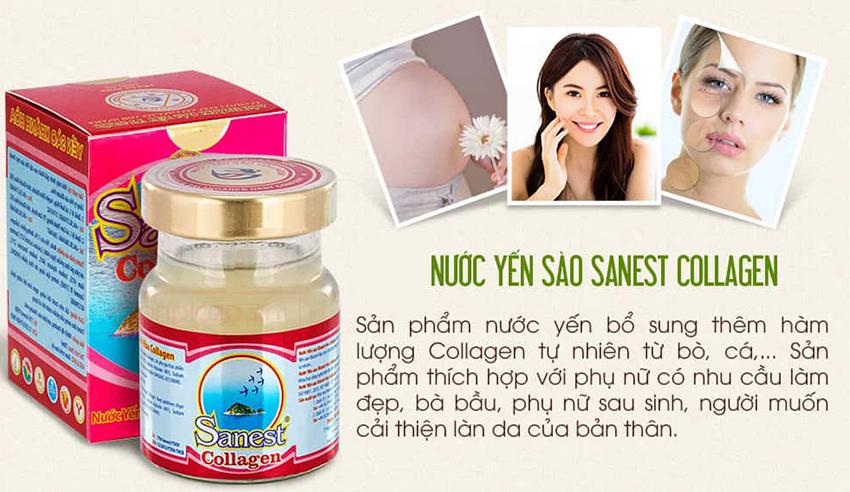 Yến Sào Khánh Hòa Collagen hộp 6 lọ (Sanest)