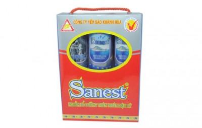 Nước yến Sanest không đường hộp 6 lon - nước yến cao cấp