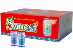 Nước Yến Sanest không đường thùng 30 lon