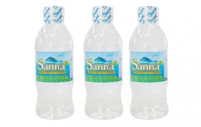 Nước uống đóng chai Sanna Khánh Hòa thùng 30 chai - loại 330ml