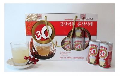 Nước gạo hồng sâm Hàn Quốc hộp 6 lon x 240ml