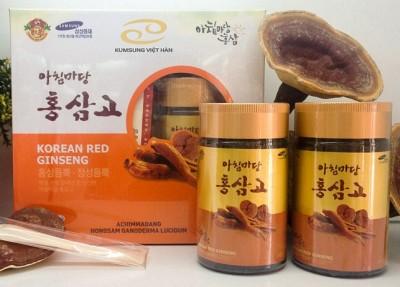Cao hồng sâm linh chi Hàn Quốc cao cấp hộp 2 lọ x 240g