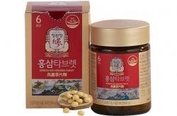 Viên nén hồng sâm KGC Cheong Kwan Jang nguyên chất 100% lọ 180 viên