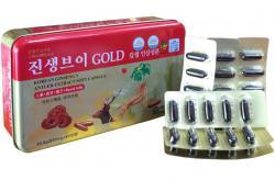 Viên đạm sâm nhung linh chi Hàn Quốc Gold hộp 60 viên