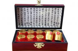 An cung ngưu Hàn Quốc Vũ Hoàng Thanh Tâm hộp gỗ 10 viên