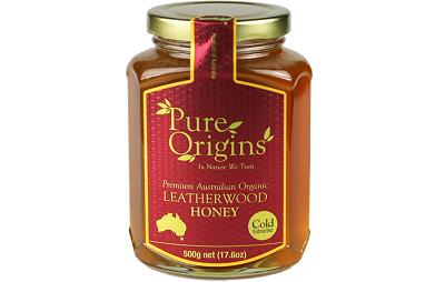 Mật ong nguyên chất Leatherwood Origins Úc lọ 500g