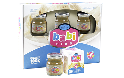Yến sào cao cấp cho trẻ em baby bird - hộp 6 lọ