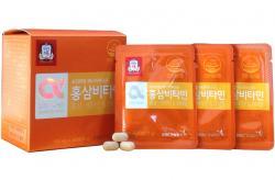 Viên cao hồng sâm Hàn Quốc cao cấp KGC Cheong Kwan Jang vitamin e hộp 60 viên