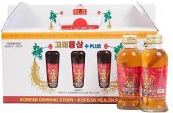Nước hồng sâm Hàn Quốc chính hãng KGS hộp 10 chai có củ sâm tươi