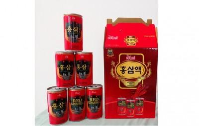 Nước hồng sâm Hàn Quốc hộp 12 lon